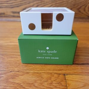 Kate Spade Gold Dot Note Holder